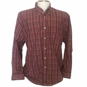 Nautica shirt Sanded Poplin front button plaid XXL
